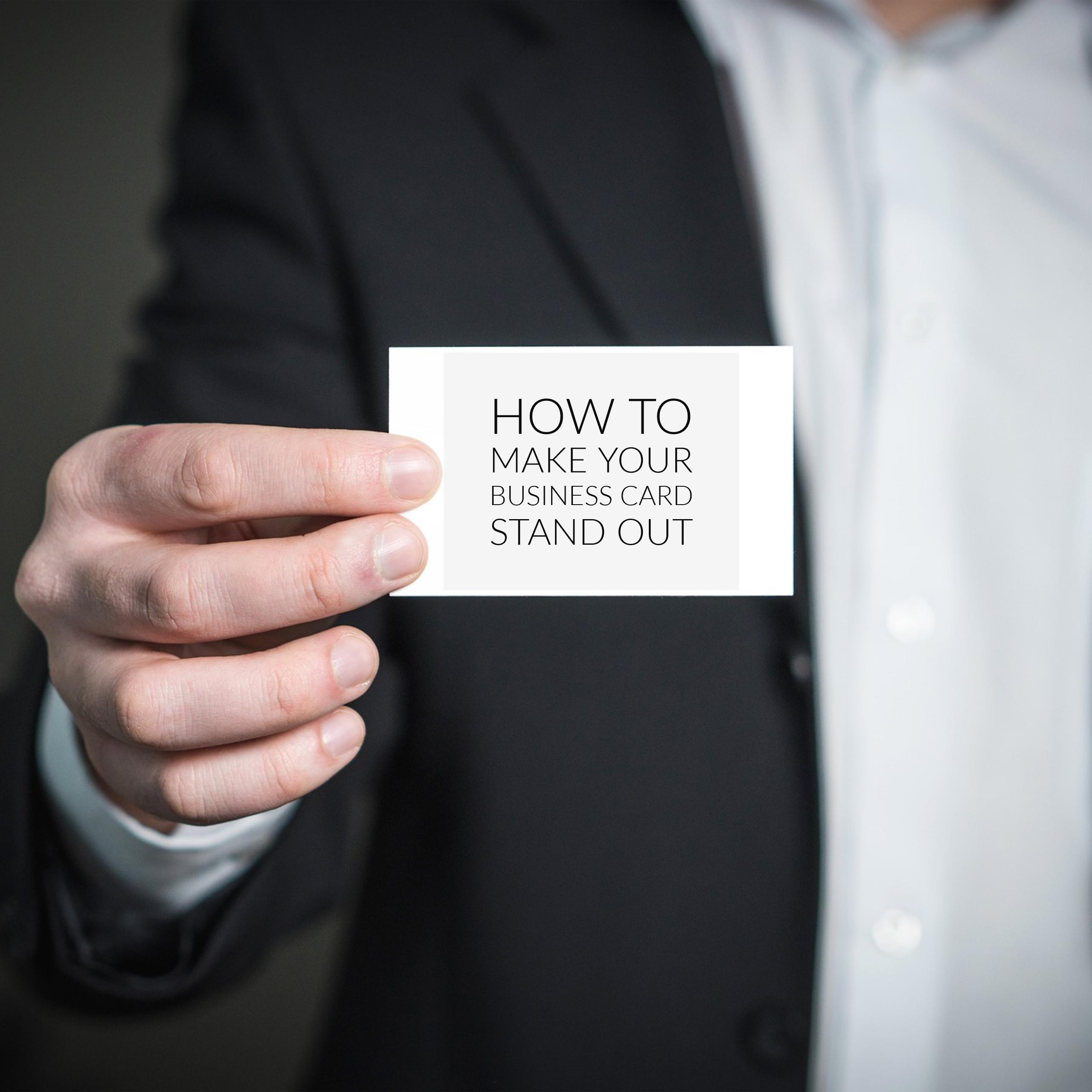 Tips for an Eye-Catching Business Card | Old City Web Services