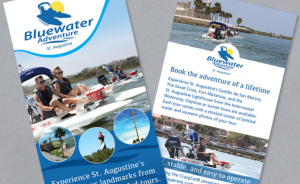Bluewater Adventure Rack Card Design