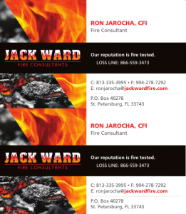 Jack Ward Business Card Design