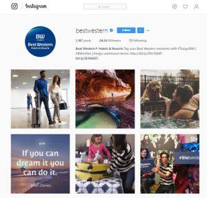 Branding on Instagram by Bestwestern