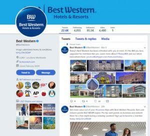 Branding on Twitter by Bestwestern