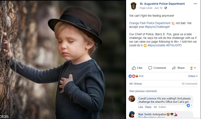 St. Augustine Police Department Facebook Post