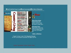 Screenshot of CountryLiving.com's Homepage in 1997.