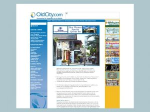 OldCity.com's website in 2005.