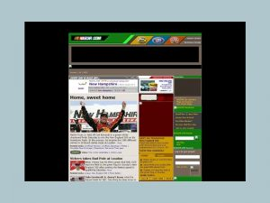 Nascar.com's home page in 2005.
