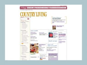 Screenshot of CountryLiving.com's Homepage in 2005.
