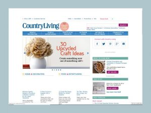 Screenshot of CountryLiving.com's Homepage in 2015.