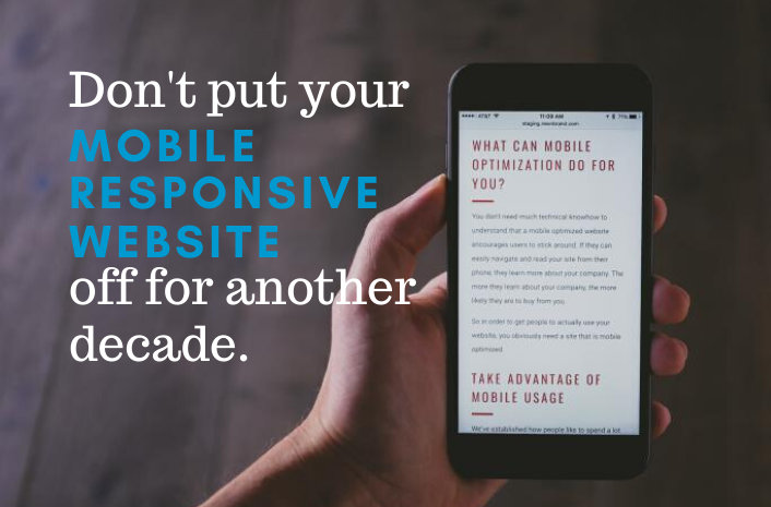 """Don't put your Mobile Responsive Website off for another decade."""